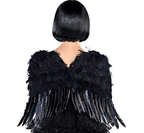 AMSCAN Black Angel Wings Halloween Costume Accessories for Adults, One Size