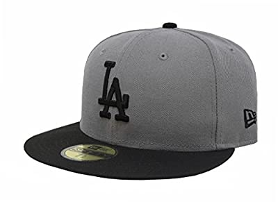New Era 59Fifty MLB Basic Los Angeles Dodgers Gray/Black Fitted Headwear Cap