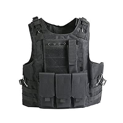 Tactical Airsoft Paintball Combat Military Swat Assault Army Police Vest for Outdoor Hunting Shooting CS Games Fishing