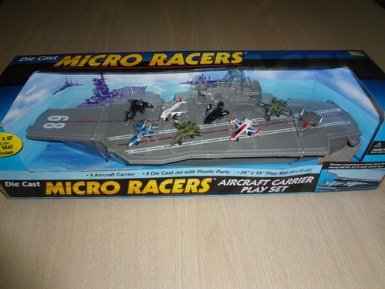 Aircraft Carrier Die Cast Micro Racers Play Set