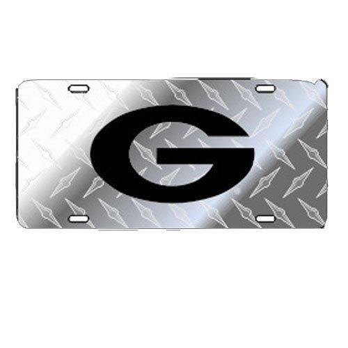Craftique Georgia Bulldogs Silver Toolbox Black G Car Tag