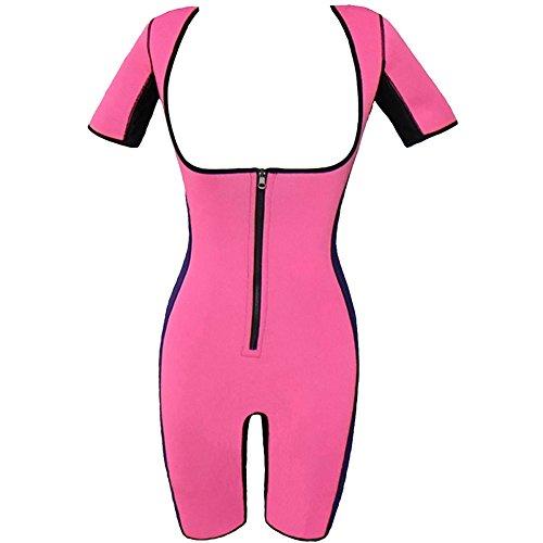 Valentina Womens Neoprene Bodysuit Sleeves Body Shapewear Sauna Suit Weight Loss
