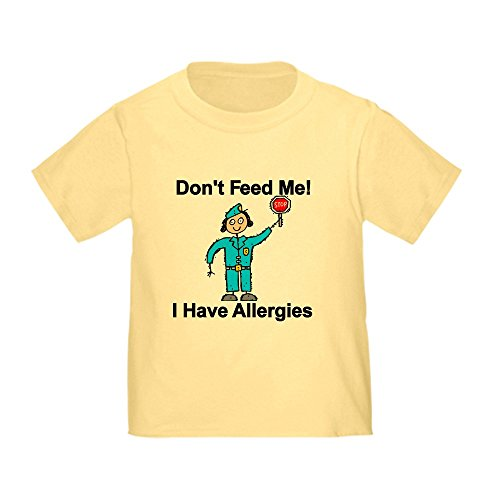 CafePress Don't Feed Me Cute Toddler T-Shirt, 100% Cotton Daffodil Yellow