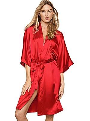 Victoria's Secret Satin Kimono Robe Very Sexy Red M/L