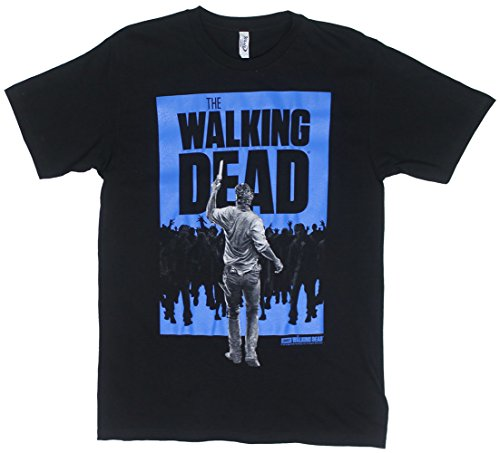 Rick Vs. Walkers - Walking Dead Sheer T-shirt: Adult Medium - Black