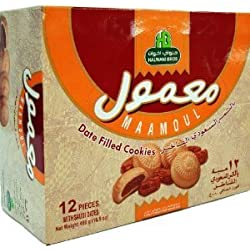 Maamoul, Date Filled Cookies (Halwani Bros) 480g (16.9oz) by Halwani bros