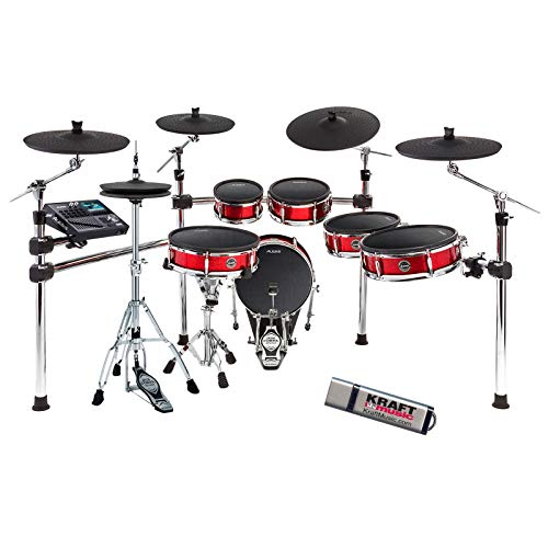 Alesis Strike Pro Drum Kit with Tama Iron Cobra Hardware and Flash Drive