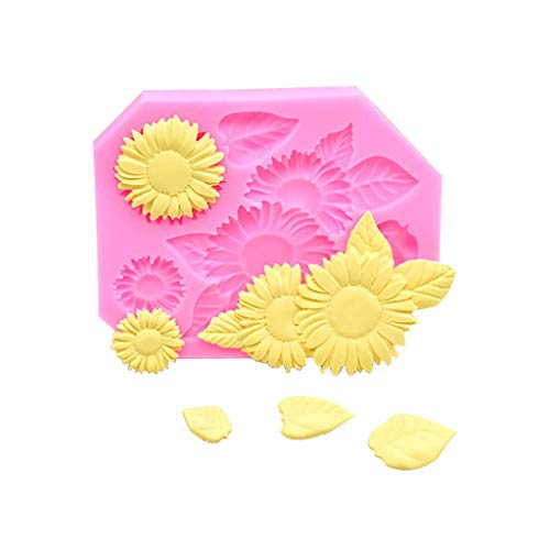 Euone ♛ Cake Mold, Home Decoration Sunflower Silicone Fondant Icing Mould Wedding Cake Mold -