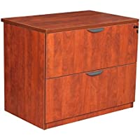 Regency 36 Lateral File Cabinet Dimensions: 36W X 24D X 29H Includes Ergonomic Drawer Pulls & Made With Matching 33 Mm Pvc Edges & 1 Thick Thermally Fused Laminate - Cherry