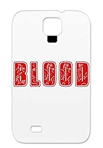 Illustration Blood Compton Thugs Gang Music Group Art Design Red Blood Logo For Sumsang Galaxy S4 Protective Hard Case