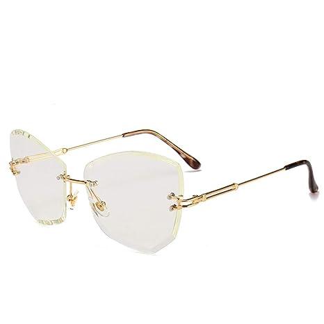 Yangjing-hl Gafas de Sol sin Marco Gafas de Sol de Moda ...