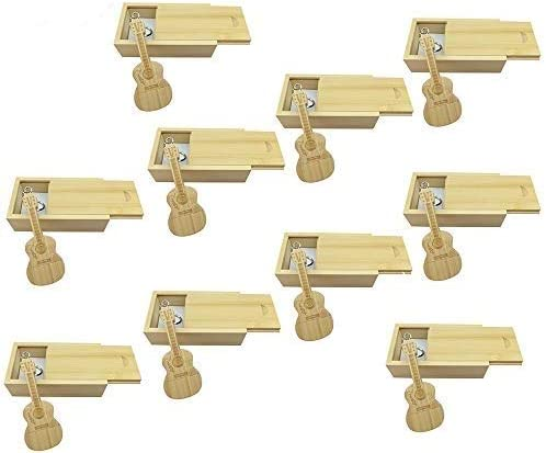 10 PCS Guitar Shaped Wood Memory Stick USB Flash Drive in Wood Box (2.0/16GB, Bamboo Wood) 41hGruxUoSL