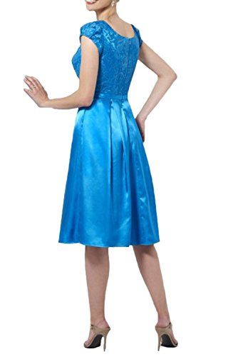 Elegant Braut Braun Kurzes Ausschnitt mia v Brautmutterkleider Kurzarm Abendkleider Knielang La Spitze Festlichkleider E5wqxgnFA7