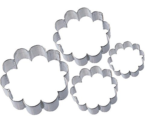(Wilton 2308-1204 Blossom Nesting Metal Cutter Set, Set of 4)
