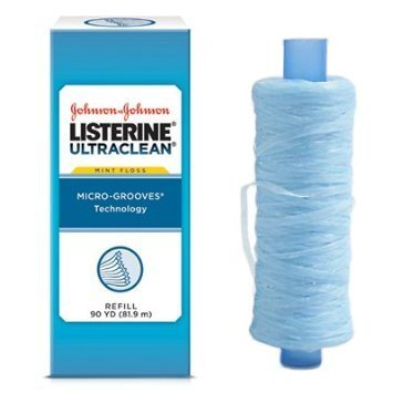Listerine Ultraclean Mint Shred-Resistant Dental Floss Refill- 44032 (No dispenser)