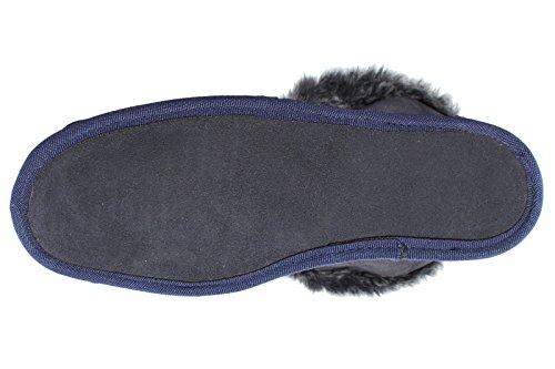 marine chalet Taille mouton BRUBAKER 48 en homme de 35 Chausson Bleu et de Chausson femme EURO peau OOqEv7