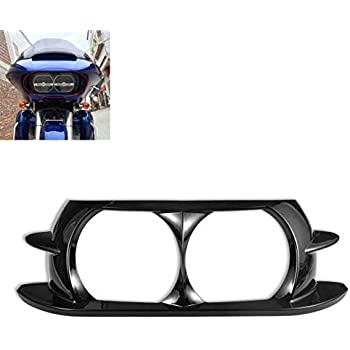 Chrome Outer /& Front Headlight Trim Bezel fairing kit Fits For Harley Road Glide FL 1998-2013