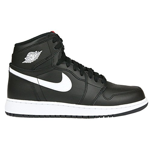 Jordan Nike Kids Air 1 Retro High OG BG Black/White Black Unvrsty Red Basketball Shoe 5.5 Kids US (Shoes Jordans Kids)