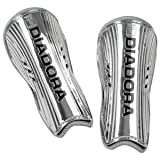 Diadora Cosmo Chrome Shin Guard (Large, Metallic Silver)