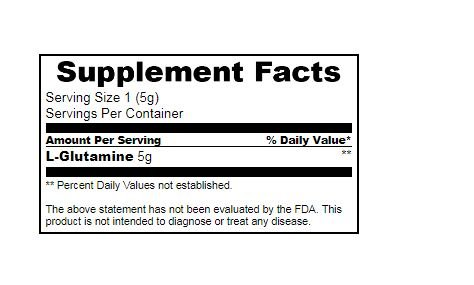 True Nutrition L Glutamine   3rd Party Tested   Made in the USA