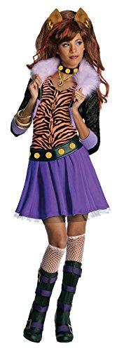 Girls Mh Clawdeen Wolf Kids Child Fancy Dress Party Halloween Costume, L (12-14)]()