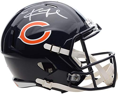 Khalil Mack Chicago Bears Autographed Riddell Speed Replica Helmet - Fanatics Authentic Certified - Autographed NFL Helmets
