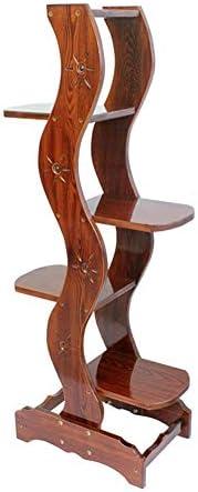フラワースタンド フラワースタンド 木製 フラワーラック バルコニー 植木鉢ホルダー 庭の装飾 屋内 収納棚 (Size : 5 tiers)