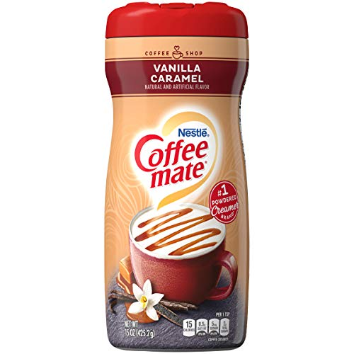 COFFEE MATE Vanilla Caramel Powder Coffee Creamer 15 oz. Canister (Pack of 6)