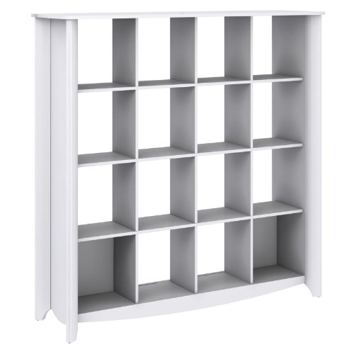 Aero Writing Desk with 16 Cube Bookcase and Tall Storage Cabinet by Bush Furniture (Image #12)