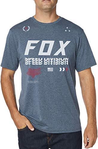 Fox T Racing Deep shirt Uomo Heather Cobalt wr4PwXqWHn