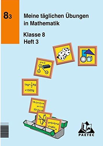Meine täglichen Übungen in Mathematik, Klasse 8, EURO