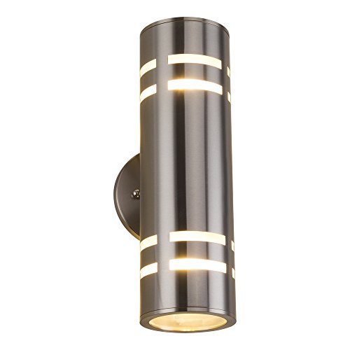 Silver Outdoor Wall Light