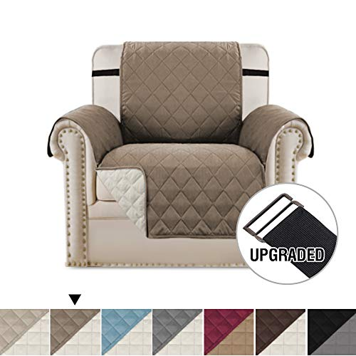 H.VERSAILTEX Premium Reversible Chair Slipcover Couch Covers for Dogs, Chair Cover Quilted Furniture Protector with 2