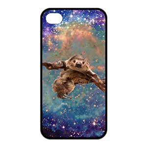 Customize Funny Sloth Tumblr black (tpu) Case Fits and Protect iphone 4 4s at luckhappy123 store