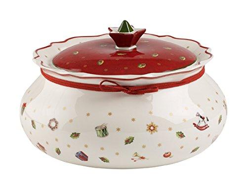 Villeroy & Boch Toy's Delight Barattolo Medio, Porcellana Premium, Bianco/Rosso 1485854558 barattoli