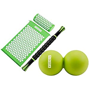 Gut Health Shop 41hGxUV%2BPVL._SS300_ YOGU Acupressure Mat Pillow and Muscle Roller Massage Stick Set for Back and Neck Pain Relief and Muscle Relaxation…