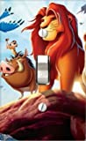 Disney Baby Bedding Lion King Jungle Fun Light Switch Cover (Adult Simba with Pumba Toggle Light Switch Cover)