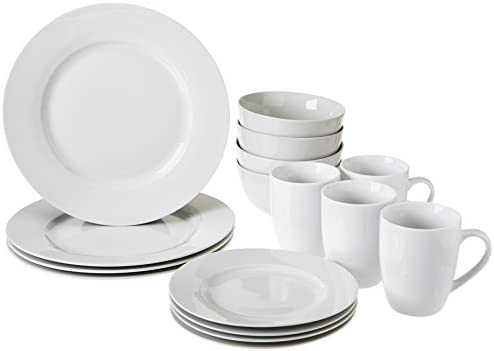 Amazon.com | AmazonBasics 16-Piece Dinnerware Set Service for 4 Dinnerware Sets  sc 1 st  Amazon.com & Amazon.com | AmazonBasics 16-Piece Dinnerware Set Service for 4 ...