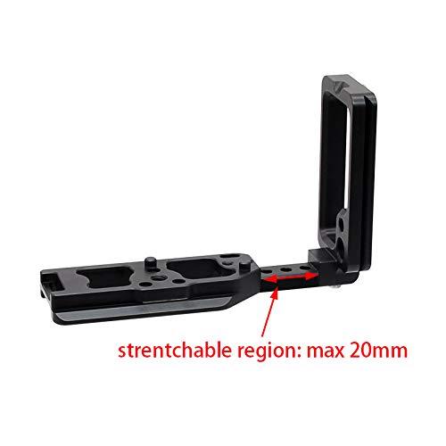 FOTOMIX LB-NIK Z-SL for Nikon Mirrorless Camera Z6 Z7 Body L-Plate Bracket Quick Release Hand Grip Black Metal CNC, Stranchable & Detachable Design