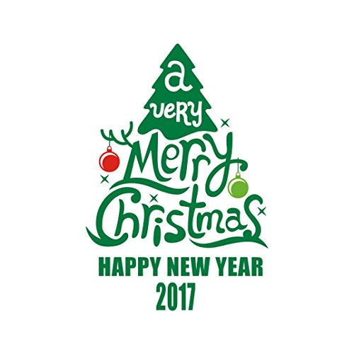 Price comparison product image Leyorie Christmas Removable Wall Sticker Art Shop Window Home Decor Decal Vinyl Mural (Christmas Tree A)