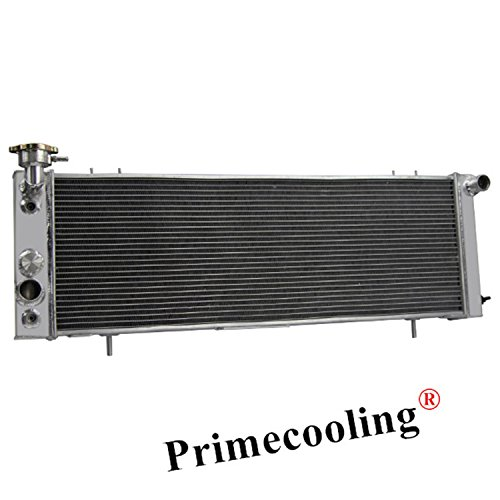 Primecooling 3 Row Tri-Core Aluminum Radiator for Jeep Cherokee /XJ ,Comanche/Pioneer/Wagoneer L4 /L6 Engine 1991-01 (Transmission Cooler Included)