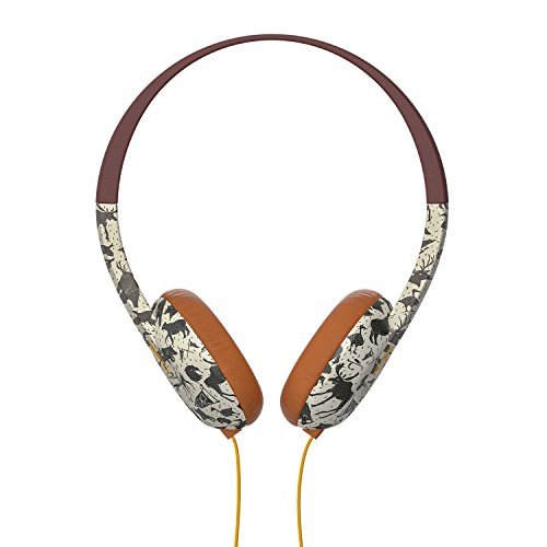 Skullcandy Uproar On-ear Headphones with Built-In Mic and Remote, Animal/Mustard
