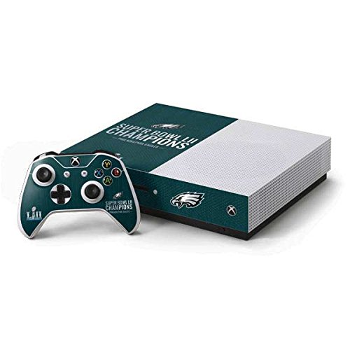 Skinit NFL Philadelphia Eagles Xbox One S Console and Controller Bundle Skin - Philadelphia Eagles Super Bowl LII Champions Design - Ultra Thin, Lightweight Vinyl Decal Protection