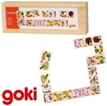 Goki Juego de Mesa tradicional DOMINÓ ANIMALES y CIFRAS Juguete educativo infantil Niños + 3 años: Amazon.es: Juguetes y juegos