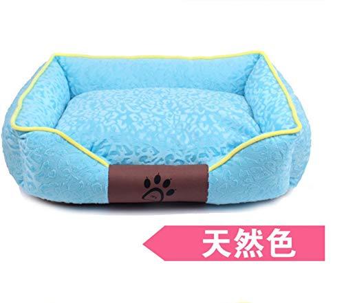 C M(56X46CM)Dog House Removable And Washable Teddy golden Retriever Pet Nest Dog Mat Cat Litter Pet Supplies Nest L