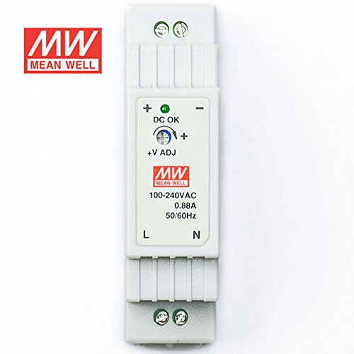 MEAN WELL DR-15-5 Power Supply 15W 5V 2.4A Constant Current Low No-load Loss by MEAN WELL (Image #1)
