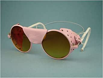 Jones Round Pink Sunglasses / Ski & Expedition Goggles with Case. Model: WAW-PK