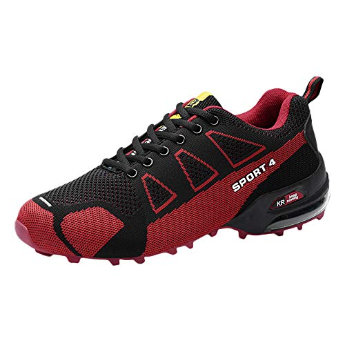refulgence Men Casual Outdoor Mountaineering Lightweight Shoes(Red,US:8) ()