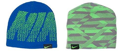 NIKE Kids Reversible Jacquard Beanie Hat Size 8/20 (Wool Nike Beanie)