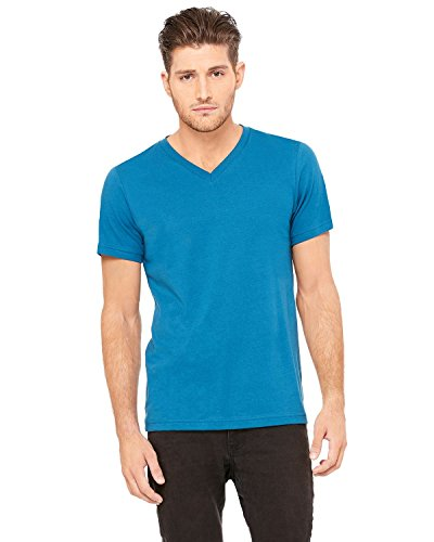 Bella + Canvas Womens 4.2 oz. V-Neck Jersey T-Shirt (3005) -DEEP TEAL -XL